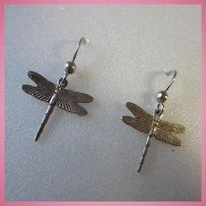 Dragon Fly Sterling Silver Earrings