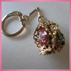 1960s Jeweled Key Ring