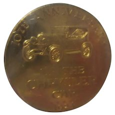 1933 - 1934 Century of Progress World's Fair Chrysler 10th Anniversary Advertising Token Coin