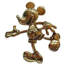 Mickey Mouse Articulated Hand Signed Disney Pin