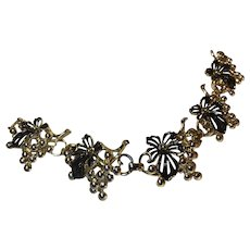 Sarah Coventry Enamel Flower Berry Bracelet