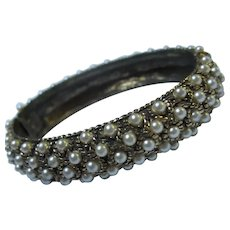 Wonderful fx Pearl Bangle Bracelet
