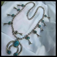 Fabulous Squash Blossom Southwest Necklace