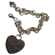 Lovely Sterling Silver Heart Bracelet