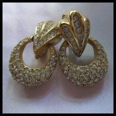 Christian Dior Germany Couture Pave Clip Earrings