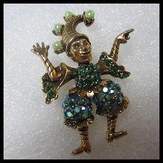 Fabulous Sparkling Jester Vintage Brooch
