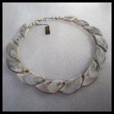 Fabulous Vintage Lucite 1960s Necklace Original Tag