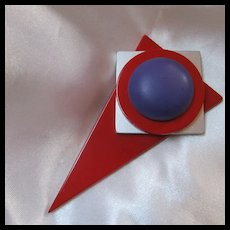 Fabulous Mid Century Geometric Mod Brooch