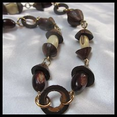Wonderful Organic Nuts Vintage Necklace