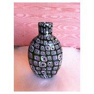 Murano millefiori glass vintage bottle