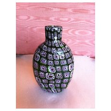 Murano millefiori glass vintage bottle