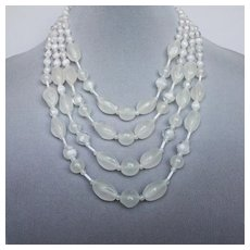 Collector's necklace with fire polished glass beads. High end costume jewelry