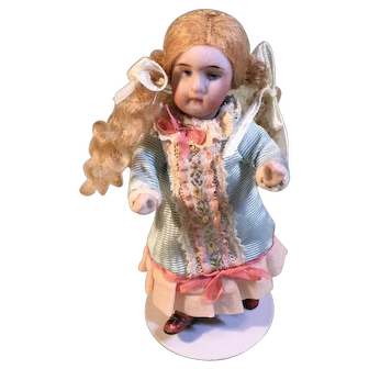 All Bisque German Doll 4 1/4""