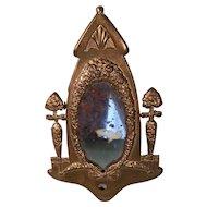 Dollhouse Brass Mirror