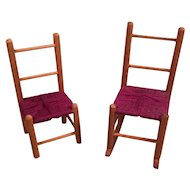 Vintage doll house chairs