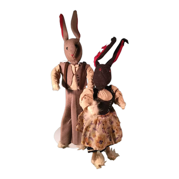 Unusual Handmade Vintage Bunnies