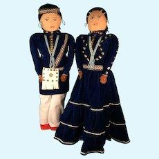 """American Indian Cloth 22"""" Dolls"""