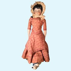 Pink Luster Brown Eye Highland Mary China Doll