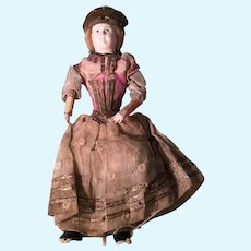Very Early Potrait King Charles Papier-mâche' Doll
