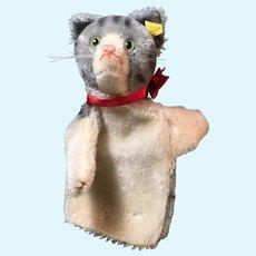 Steiff Tabby Cat Hand Puppet