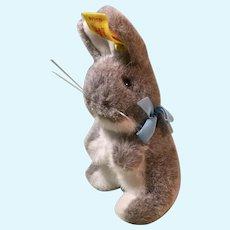 Steiff Gray Bunny, Marked W. Germany