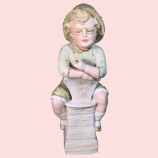 Heubach Bisque Boy Statue
