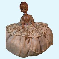 Celluloid Pincushion Doll Very 1960's