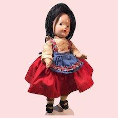 "Madame Alexander 9 1/2"" Compo Girl ""Italian"""
