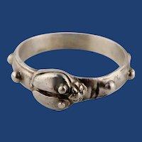 Vintage Sterling Silver Unisex Beetle Bug Ring