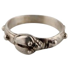 Vintage Sterling Silver Unisex Beetle Bug Ring