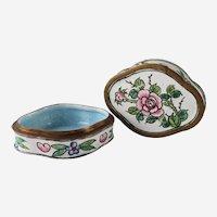 Vintage Enamel Cloisonné Floral Trinket Box
