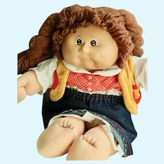 Collectable Vintage 1986  Signed Cabbage Patch Western Doll