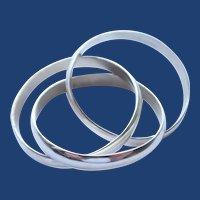 Vintage Sterling Silver Triple Roller Unisex Ring Size 11