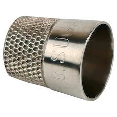 Vintage Sterling Silver Inscribed Thimble