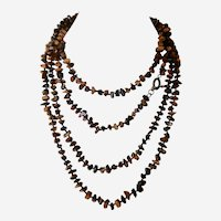 Estate 6 feet 8 Inches LONG Tiger's Eye Single Strand Necklace