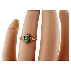 Lovely Victoria Gold-Filled Turquoise 4 1/2 Ring