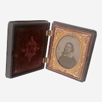 Antique Daguerreotype Portrait of a Lovely Young Lady Mid 1800s
