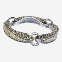 Retired John Hardy  18K Gold & Sterling Silver Bridle Bracelet