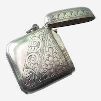 European Sterling Silver Vesta/Match Safe Case Box