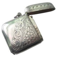 European Sterling Silver Vesta/Match Safe Case Box