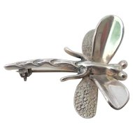 Sterling Silver Taxco Dragon Fly Pendant