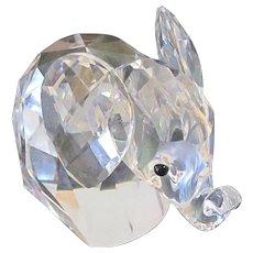 Retired Swarovski Elephant Silver Crystal Large Var I Mid 70's-80's