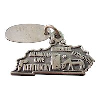 Vintage Sterling Silver Kentucky Charm