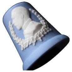 Blue And White Wedgwood George V Thimble