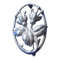 Articulated 3D Vintage Sterling Silver Tulip Brooch