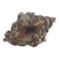 Vintage French Nouveau Repousse Brooch