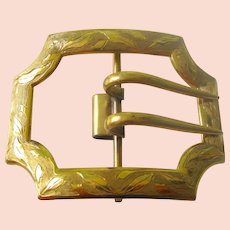 Exquisite Huge Victorian Heavy Gold Filled Ladies Buckle