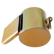 Vintage Gold Filled Working Whistle
