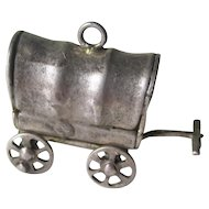 Vintage Sterling Silver 3-D Wild West Wagon with Moving Spoke Wheels Charm