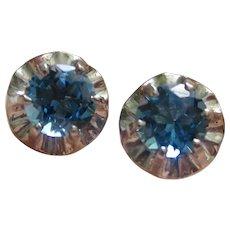Stunning Edwardian Platinum Earrings With 1.85tcw London Blue Topaz